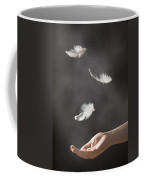 Floating Feathers Coffee Mug by Amanda Elwell