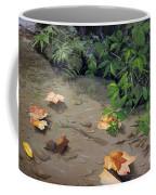 Floating Leaves By George Wood Coffee Mug