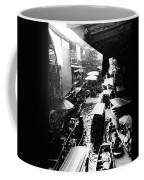 Floating Markets In Black And White Coffee Mug