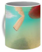 Floating Red Canoe From Underwater Coffee Mug