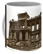 James Clair Flood Mansion Atop Nob Hill San Francisco Earthquake And Fire Of April 18 1906 Coffee Mug