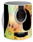 Floral Abstract Guitar 14 Coffee Mug