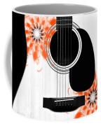 Floral Abstract Guitar 32 Coffee Mug