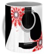 Floral Abstract Guitar 33 Coffee Mug