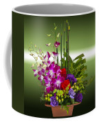 Floral Arrangement - Green Coffee Mug by Chuck Staley