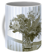 Floral Arrangement With Blinds Reflection Coffee Mug