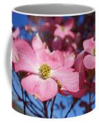 Floral Art Print Pink Dogwood Tree Flowers Coffee Mug
