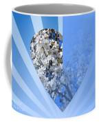 Floral Half Heart Coffee Mug