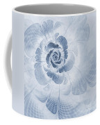 Floral Impression Cyanotype Coffee Mug