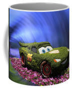 Floral Lightning Mcqueen Coffee Mug by Thomas Woolworth