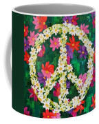 Floral Peace Pop Art Coffee Mug