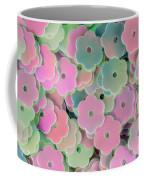 Floral Shape Sequins Coffee Mug