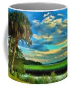 Florida Landscape With Palms Coffee Mug