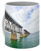 Florida Overseas Railway Bridge Near Bahia Honda State Park Coffee Mug