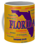 Florida State Pride Map Silhouette  Coffee Mug