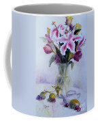 Flower Bouquet With Teapot And Fruit Coffee Mug