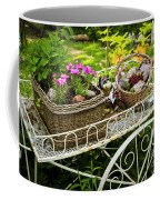 Flower Cart In Garden Coffee Mug
