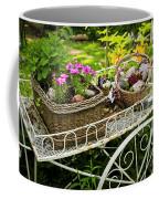 Flower Cart In Garden Coffee Mug by Elena Elisseeva