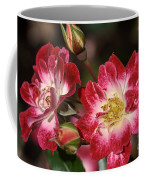 Flower-cream-pink-red-rose Coffee Mug