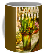 Flower - Daffodil - A Pot Of Daffodil's Coffee Mug by Mike Savad