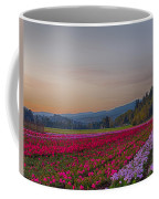 Flower Field At Sunset In A Standard Ratio Coffee Mug
