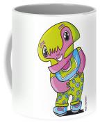 Flower Girl Doodle Character Coffee Mug by Frank Ramspott