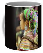 Flower Hmong Woman Coffee Mug