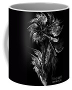Flower In Black-and-white Coffee Mug