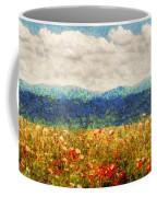 Flower - Landscape - Fragrant Valley Coffee Mug by Mike Savad