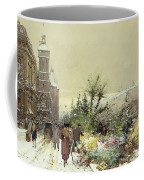 Flower Market Marche Aux Fleurs Coffee Mug by Eugene Galien-Laloue