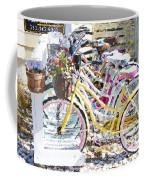 Flower On A Bicycle 2 Coffee Mug