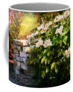 Flower - Rose - By A Wall  Coffee Mug by Mike Savad