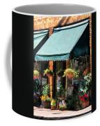 Flower Shop With Green Awnings Coffee Mug