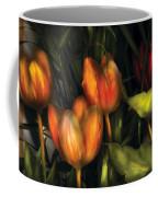 Flower - Tulip -  Orange Irene And Red  Coffee Mug