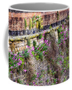 Flower Wall Along The Arno River- Florence Italy Coffee Mug