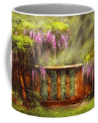 Flower - Wisteria - A Lovers View Coffee Mug by Mike Savad