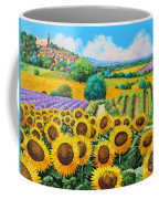 Flowered Garden Coffee Mug by Jean-Marc Janiaczyk