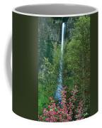 Flowering Tree Below Multnomah Falls Columbia River Gorge Nsa Oregon Coffee Mug