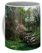 Flowering Trees In Bloom Along Fence Coffee Mug