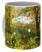 Flowers Along The River In Fall Coffee Mug