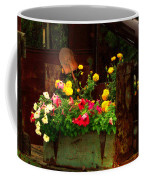 Flowers And Shovel On An Old Drill Truck Coffee Mug