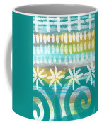 Flowers And Waves- Abstract Pattern Painting Coffee Mug