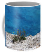 Flowers By The Blue Coffee Mug
