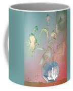 Flowers Ghosts Coffee Mug