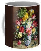 Flowers In A Blue And White Vase Coffee Mug