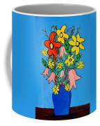 Flowers In A Blue Vase Coffee Mug