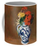 Flowers In A Blue Vase Coffee Mug by Odilon Redon