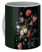 Flowers In A Glass Vase, Circa 1660 Coffee Mug