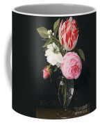 Flowers In A Glass Vase Coffee Mug