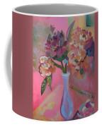 Flowers In A Lavender Vase Coffee Mug
